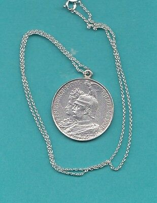 The Old Germany Silver Two Marks 1901 Coin -  Pendant .
