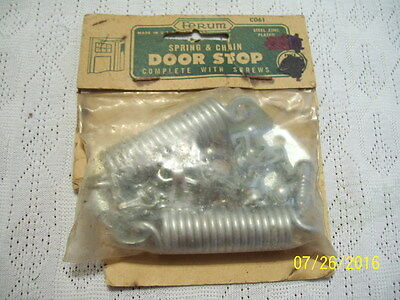 Vintage Ferum Spring & Chain Door Stop