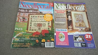 lace making patterns in 2 vintage Needle craft Magazine, torchon