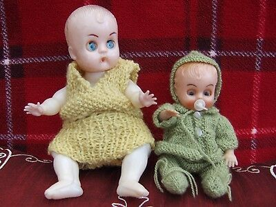 Two Small Plastic Dolls 60's?