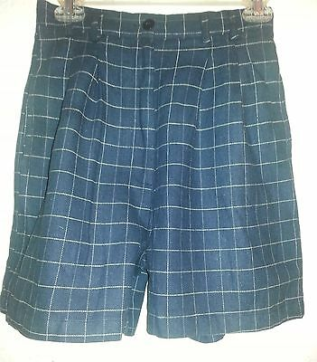 7 STARWEAR Pleated Front Career Dress Short Navy Blue STRIP Girl/Women NEW W/TAG