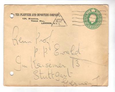 6602- Great Britain , postal stationery addressed to Germany – nice MTP cancel –