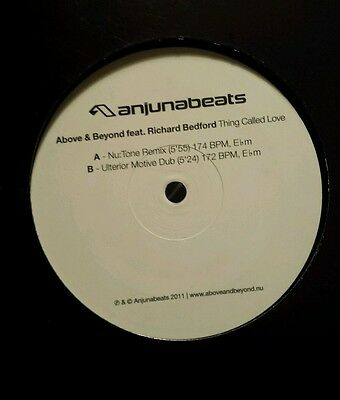 @above & Beyond Anjunabeats Richard Bedford Thing Called Love Nu:tone 12 Remix @