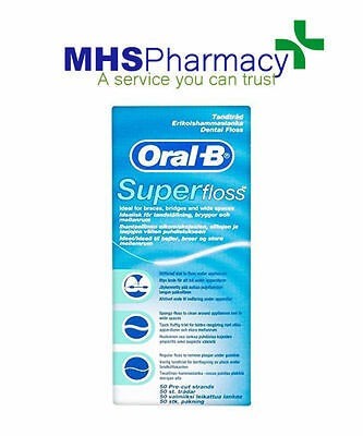 Oral B Superfloss Super Dental Floss Braces Bridges new  mint flavour