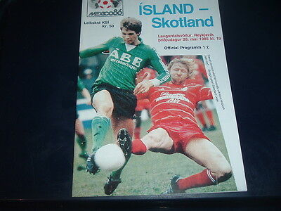 Iceland v Scotland May 1985 World Cup Qualifier