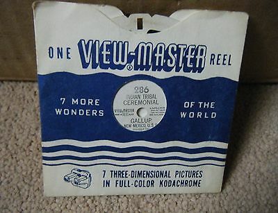 Sawyer's Viewmaster Reel No 286 Indian Tribal Ceremonial