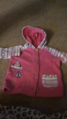 Brand New - Girls Hooded Jacket - Age 9-12 Months