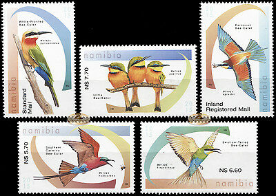 Namibia. 2015. Bee-eaters of Namibia (MNH OG) set of 5 stamps