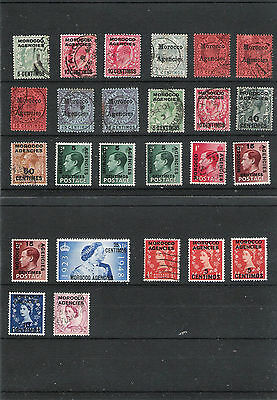 JOB LOT x25 USED MOROCCO AGENCIES STAMPS ED VII-QEII