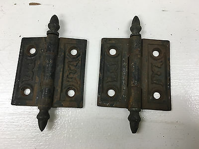 Set of 2 Vintage/Antique Hinges, Victorian, Ornate
