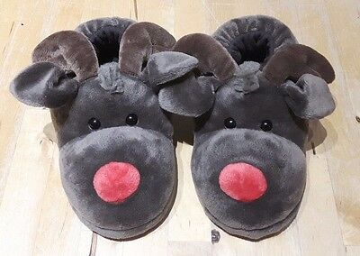 Rudolph childrens slippers size 3-4