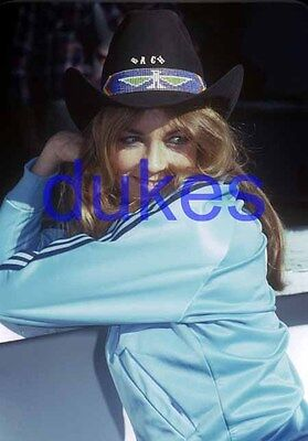 the DUKES OF HAZZARD #810,CATHERINE BACH,candid photo