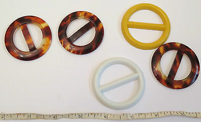 5 Plastic Buckles. Probably from the 1970s.