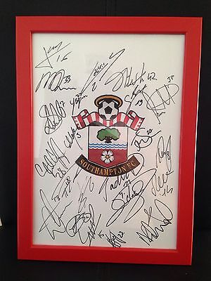 Southampton X22 NEW 2016/17 Hand Signed Framed A4 Autograph Sheet,Long,Fonte