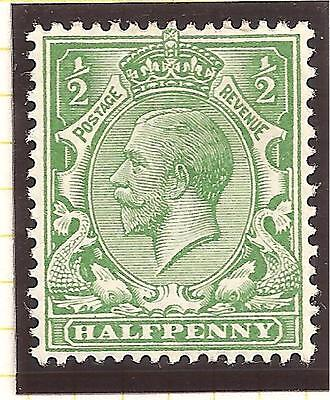 King George V Halfpenny ½ SG354 Green Stamp Not used