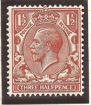 King George V SG364 1 Stamp Three Halfpence Brown Not used