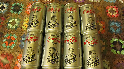 24 Coca Cola Dosen Set 250 ml Germany, UEFA EURO 2016 Blikje Boite Lattine, cans