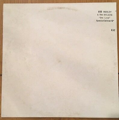 "Bob Marley & The Wailers ‎– One Love / People Get Ready - Promo 12"" White Vinyl"