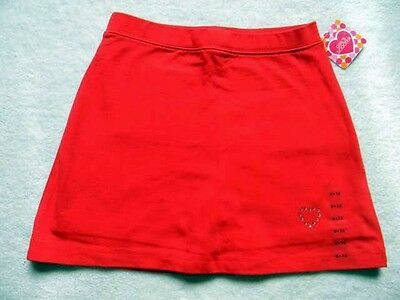 REALLY RED Child Size Medium 7-8 SKORT With Attached Shorts Rhinestone Dance
