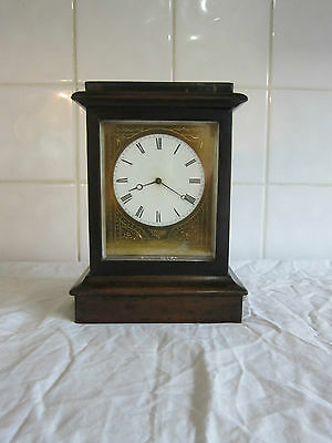 Fine Quality Mahogany and Ebonized Clock - 1880- V.A.P