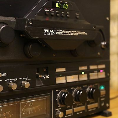 Black Teac X-2000R reel to reel tape recorder - With Warranty