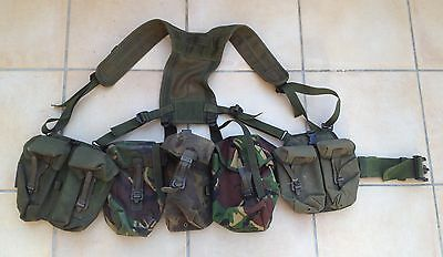 British army PLCE webbing in DPM / green pattern camouflage