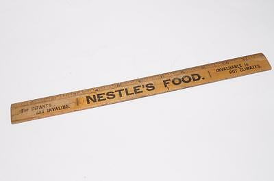 Antique C1895 ADVERTISING Wooden RULER NESTLE'S FOOD For INFANTS and INVALIDS