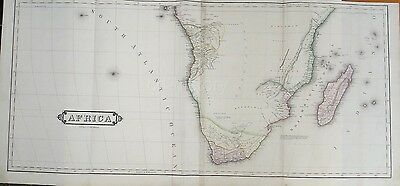 Large Map Of Southern Africa With Large Unexplored Area c19th Lizar Edinburgh