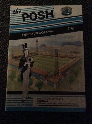 Peterborough United v Rochdale 1989/90 Programme