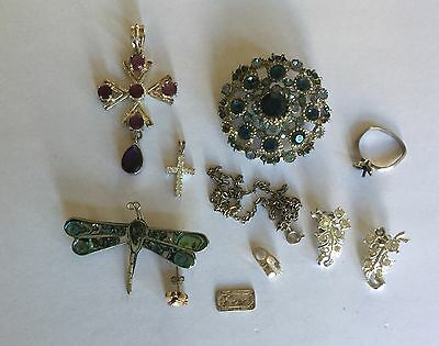 Metal Detecting Finds - Various Bits & Bobs of Jewellery inc a bit of Silver