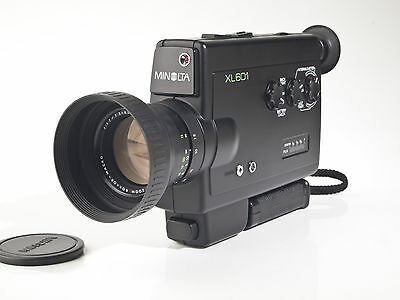 Minolta XL601 Super 8 Movie Camera - 1.7 / 7.5-45mm Macro Lens - tested - exc.++