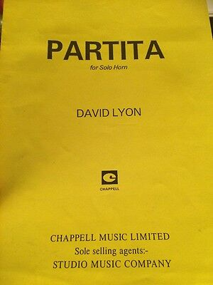 French Horn Sheet Music. Partita For Solo Horn.