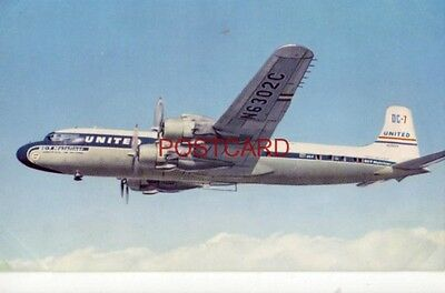 UNITED AIRLINES NEW 365-mph DC-7s, THE WORLD'S FASTEST