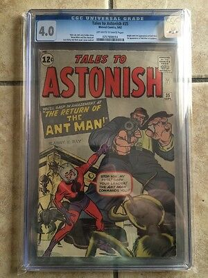 Tales To Astonish #35 CGC 4.0 2nd Ant-Man 1st Time In Costume AVENGERS MARVEL