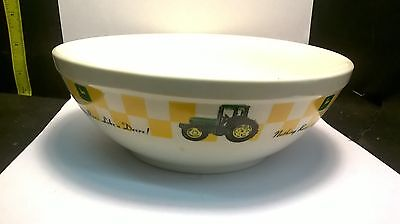 Gibson John Deere Tractor Cereal Popcorn Snack Bowls Limited Edition Rare