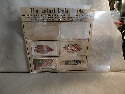 Late 1880s Victorian Calling Card Salesmans Sample Holly Card Works Meriden CT
