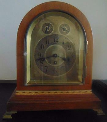 Antique Junghans Mantel Mahogany Mantel/bracket 8 Day Westminister  Chimes Clock