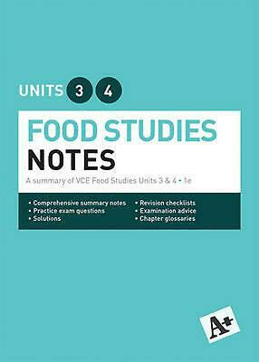 A+ Food Studies Notes VCE Units 3 & 4 by Carmela Marion Paperback Book Free Ship