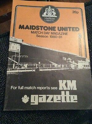 Maidstone United v Exeter City 1980/81 FA Cup Programme