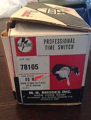 Vintage MARK-TIME M.H. Rhodes 60 Minute Timer In Box 78105