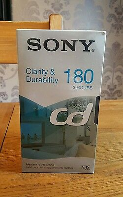 Blank Sony CD 180 - 3 Hour Video Cassette Tapes x4 -New & Sealed