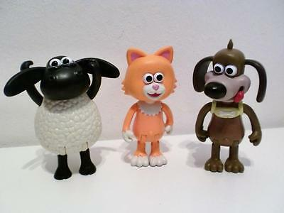 Wallace & Gromit Shaun Timmy Time Sheep Poseable Toy Action Figures Set x 3
