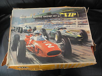 1960s RARE VICTORY INDUSTRIES (VIP) FR1700 RACING CAR SET WITH POWER UNIT