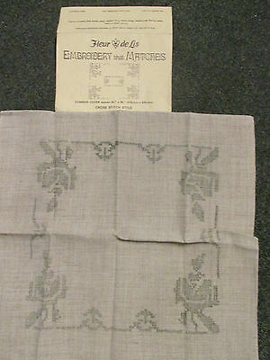 Flear de Lis Cushion Cover to Embroider~Brand New & Unused.