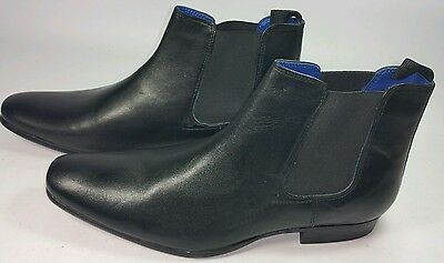 Asos Mens Red Tape Black Leather Chelsea Boots. sz 10. RRP £55. BNWOB