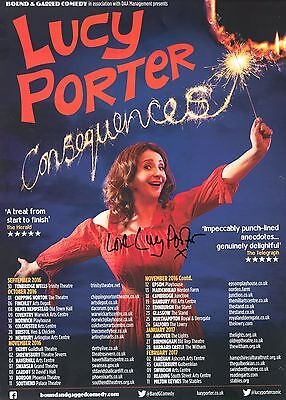 Lucy Porter - SIGNED Tour Poster 2016