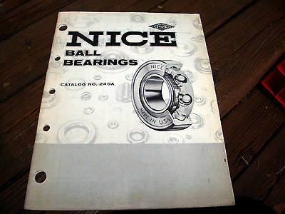 NICE Ball Bearings Catalog No. 240A 1966
