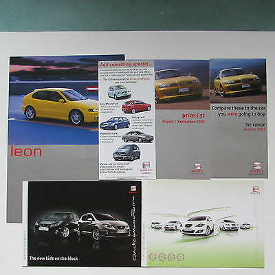 Collection of Six Seat Brochures including Leon and Ibiza
