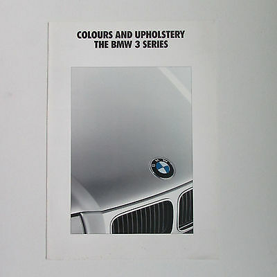 BMW 3 Series Colours and Upholstery Brochure (1991)