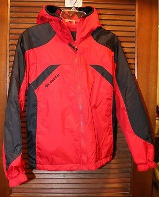 Columbia Jacket Fall/Winter -Red Black- Boy Girl Size 10/12 Youth - NEW wo/tags